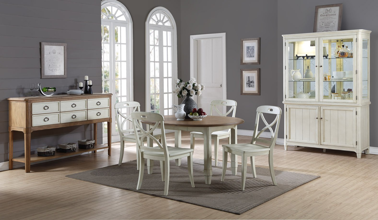 Millbrook Dining white chairs