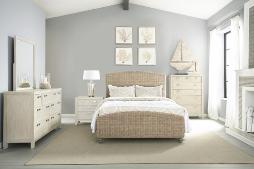 124-215 Grey Woven Bed