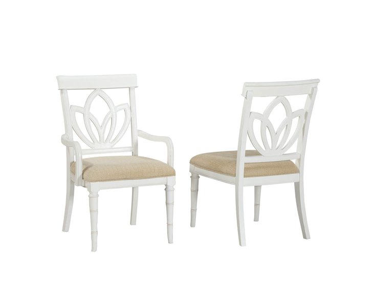 Isle of Palms Rectangle Chair White