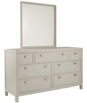 Graphite Drawer Dresser and Landscape Mirror