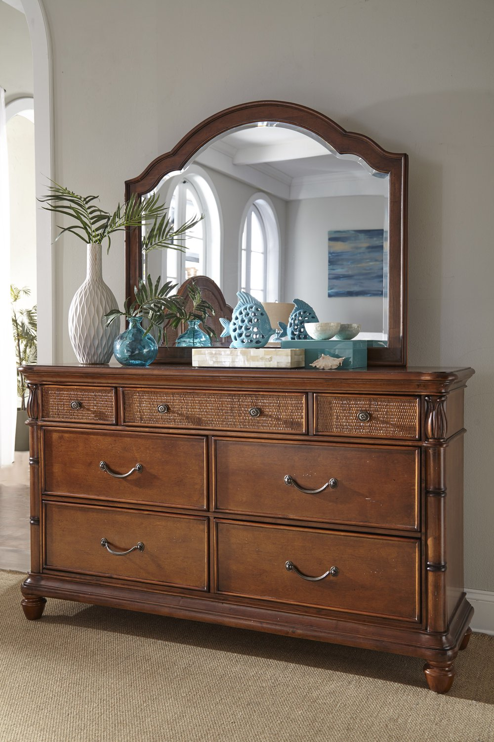 palmetto home panama isle of palms bedroom set in drawer dresser palmetto home 553