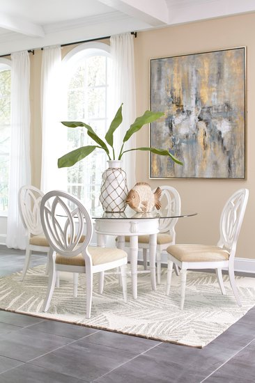 Isle of Palms Round Dining Table Room