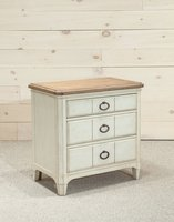 Millbrook 3 Drawer Nightstand on carpet