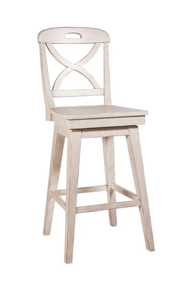 Millbrook X Back Swivel Bar Stool Cream Front