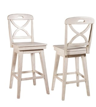 Cream Millbrook X Back Swivel Bar Stool