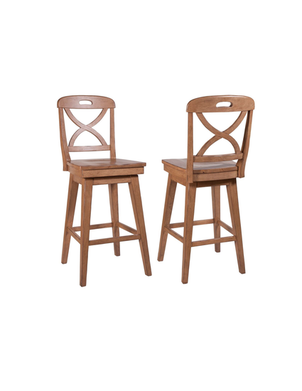 Millbrook X Back Counter Stool Stain