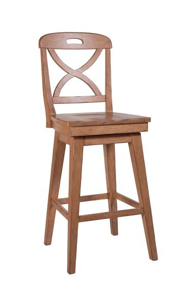 Front of Millbrook X Back Swivel Bar Stool