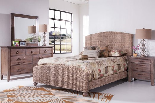 Grey Woven Bed