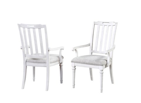Sonoma Slat Back Arm Dining Chair